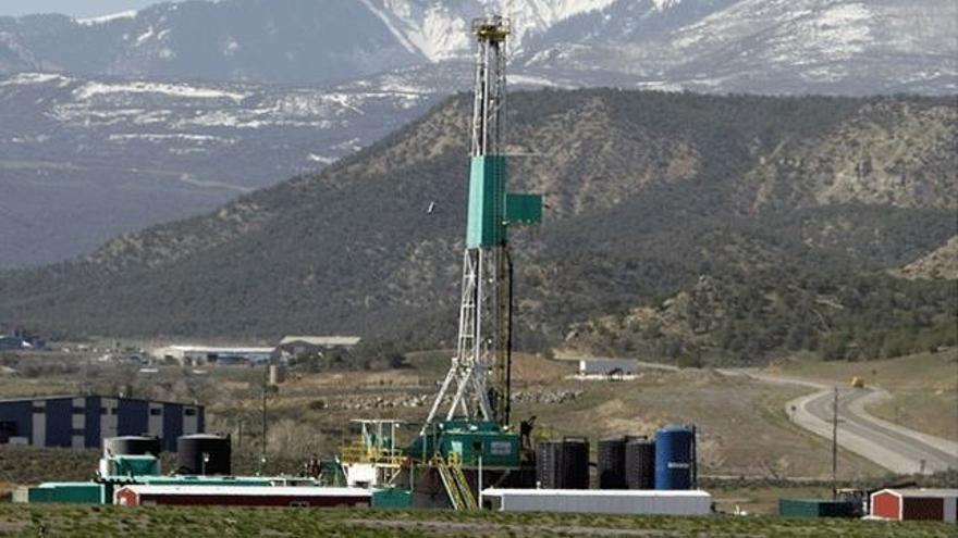 Un pozo de fracking.