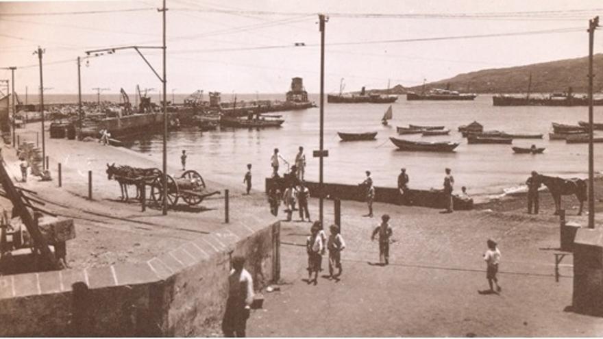Puerto de Santa Cruz de La Palma (hacia 1920).