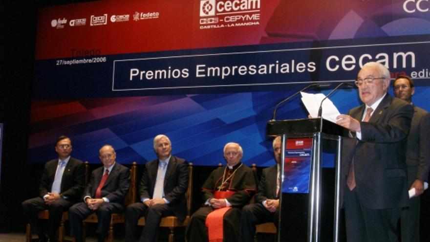 Antonio del Pozo en un acto de CECAM