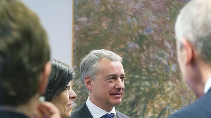 El lehendakari, Iñigo Urkullu, durante la presentación del programa de Gobierno