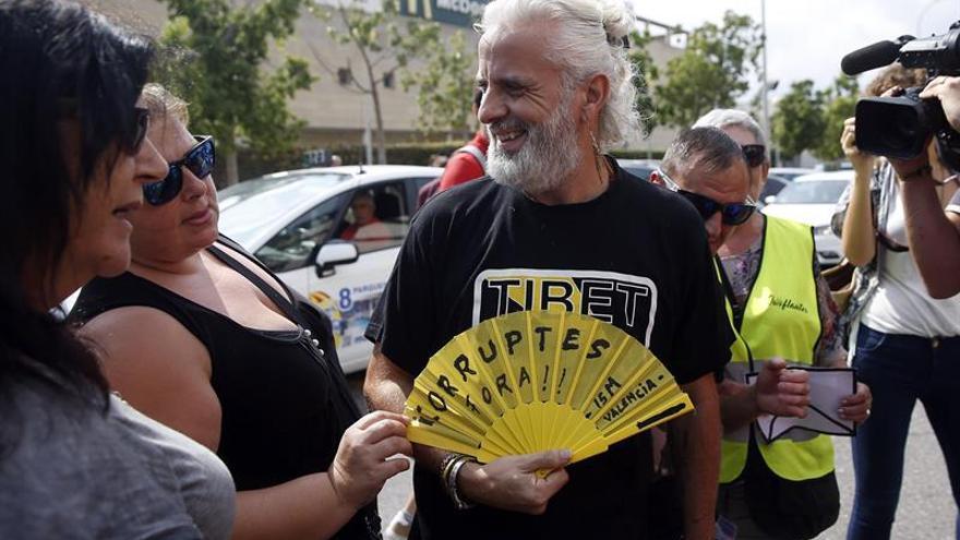 El exgerente de Imelsa, Marcos Benavent, a las puertas de la Ciudad de la Justicia de Valencia