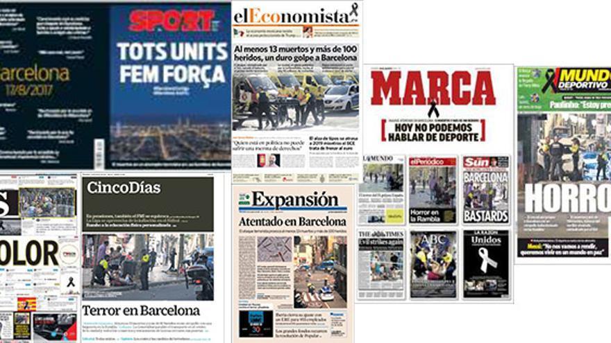 Portadas de la prensa deportiva y económica nacional