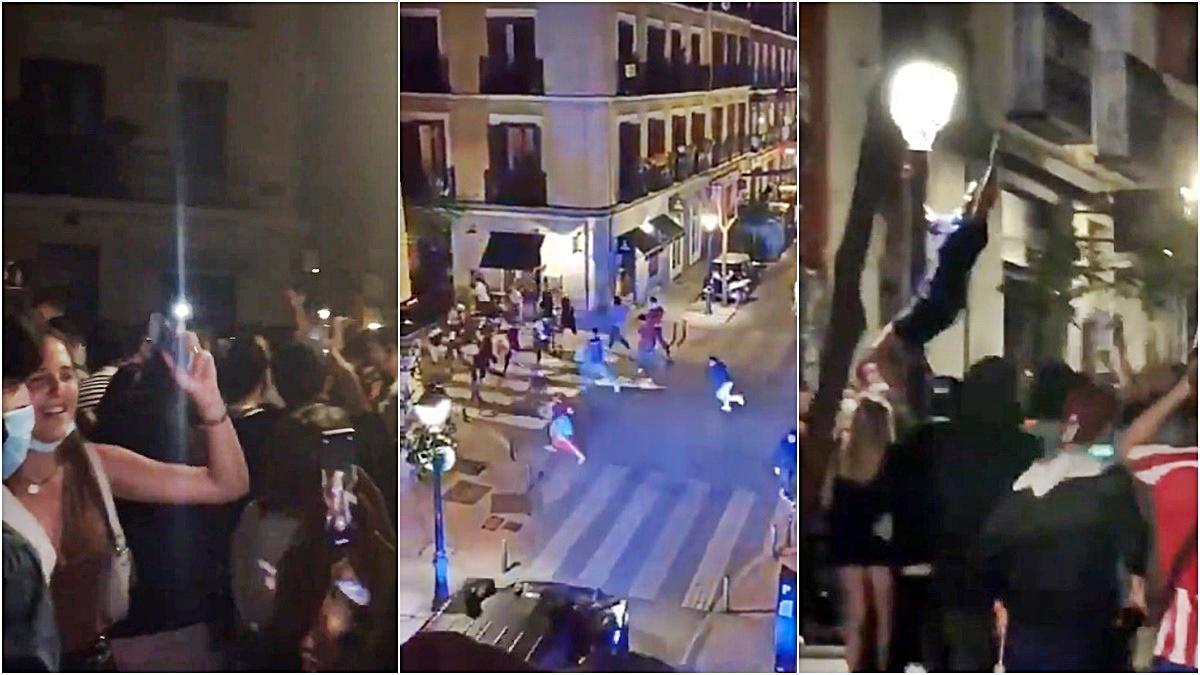 Tres imágenes del fin del toque de queda en las calles de Malasaña