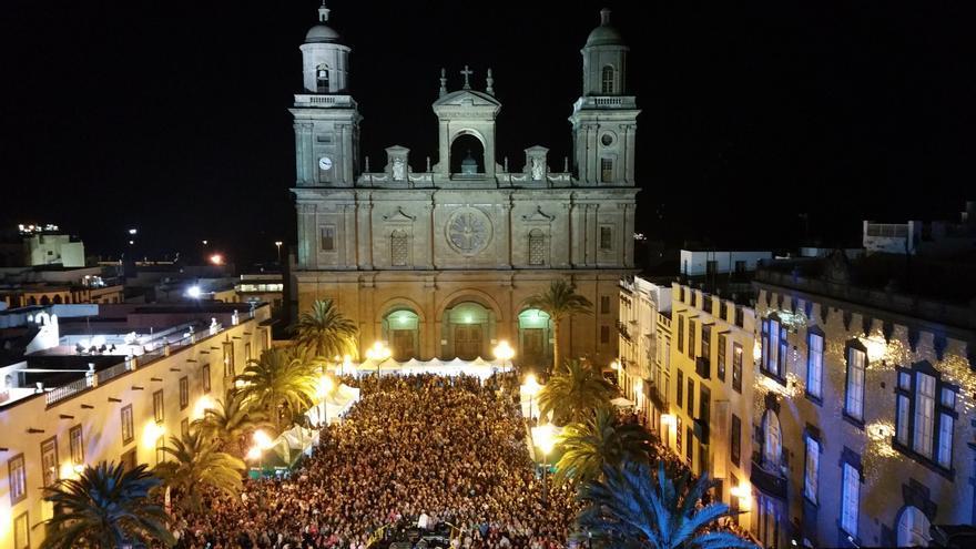 Celebración del Día de Canarias en la Plaza de Santa Ana