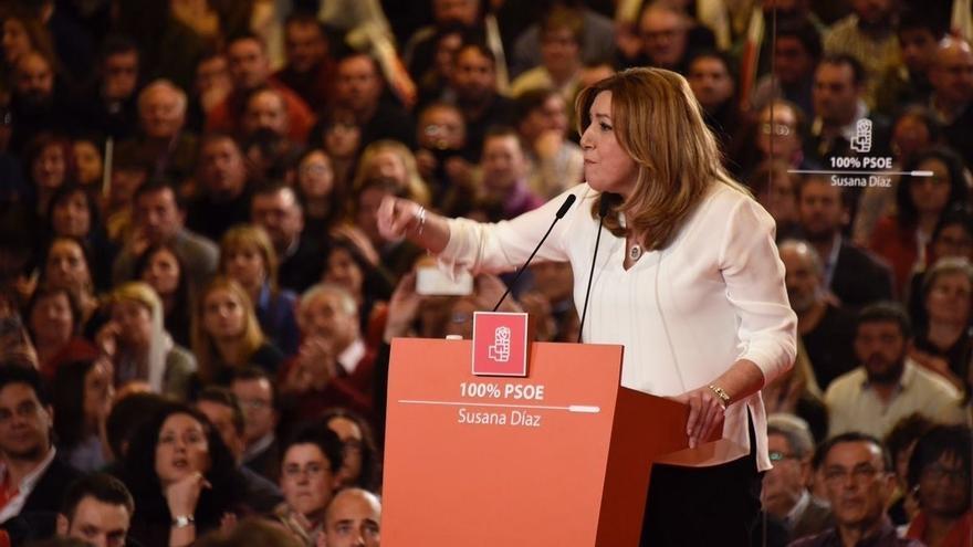 Susana Díaz, también presidenta de la Junta de Andalucía, en un acto político