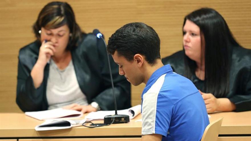 Alberto M.P., en el momento de escuchar el veredicto que le declaró culpable del asesinato de Saray González