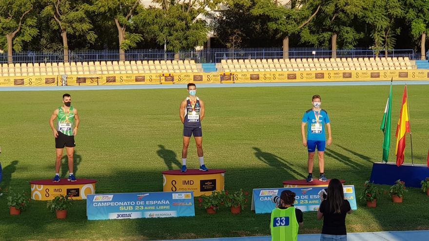 Víctor Román, campeón de España Sub23 en lanzamiento de jabalina