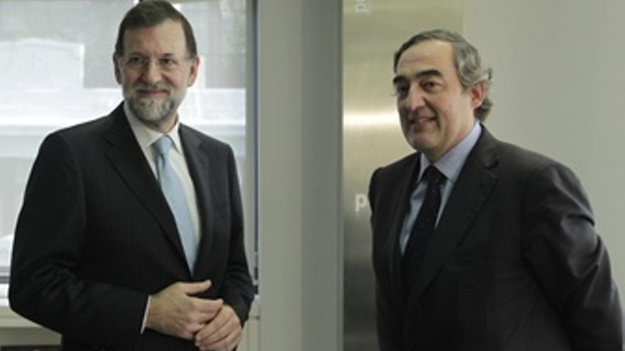 Rajoy Se Reúne Con Joan Rosell En Génova