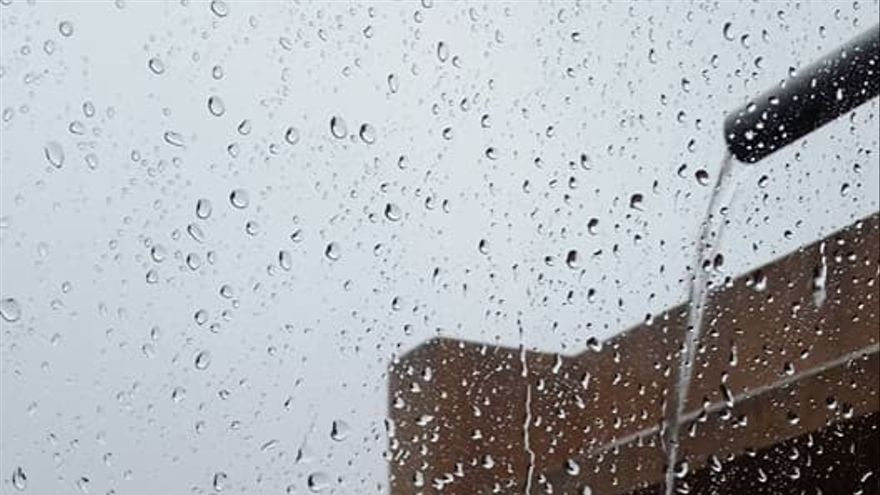 Las lluvias son copiosas en la Villa de Garafía este martes. Foto. A.R.M.