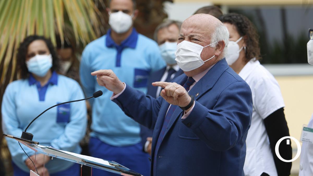 El consejero Jesús Aguirre este lunes en Córdoba