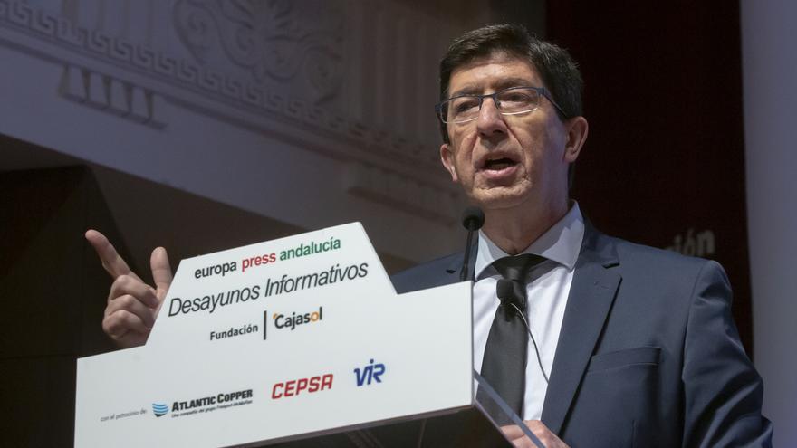 """Marín garantiza """"estabilidad política"""" de Junta y destaca """"utilidad"""" de acuerdos con Vox, dispuesto a dialogar"""