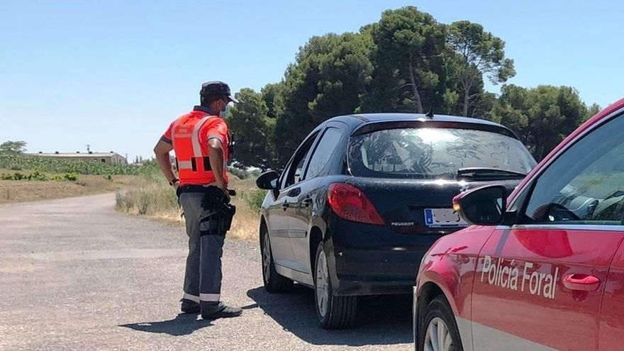 Intervención de la Policía Foral con un conductor investigado por delito contra la Seguridad Vial