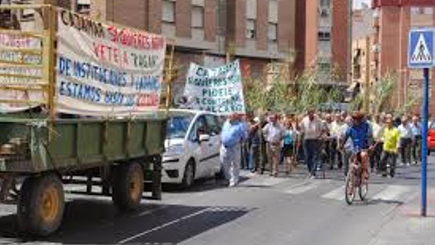 Manifestación de los Regantes del Heredamiento de Molina de Segura en el Día de la Región
