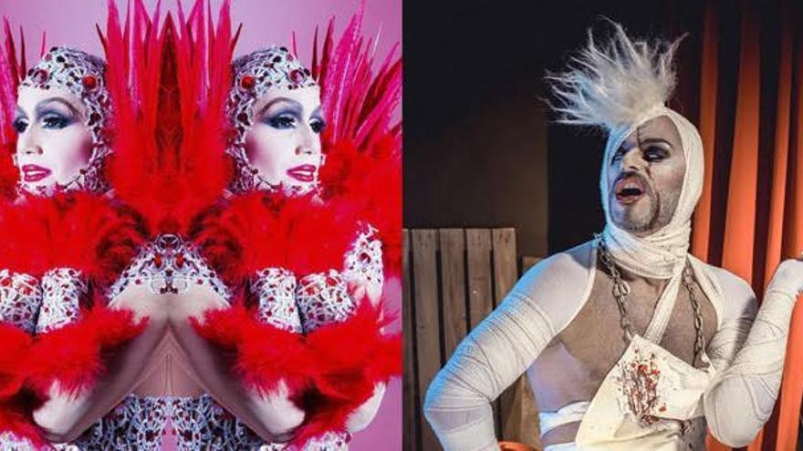 Drag Salamandra y Ashe Drag estarán acompañadas por EFE D. Foto cedida por la Asociación del Casco Histórico.