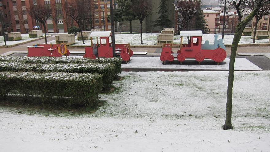 Siete colegios de Bizkaia cerrados por la nieve