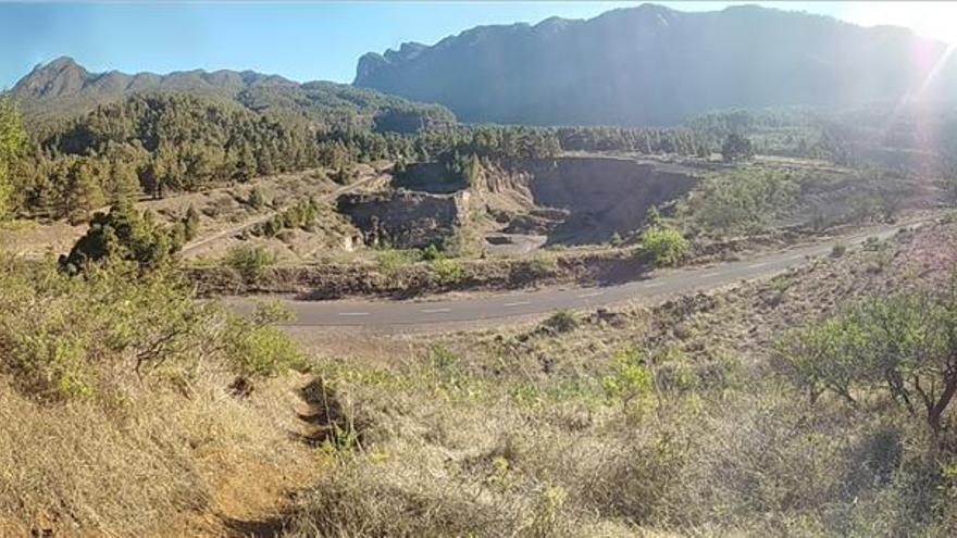 Panorámica de la zona ocupada por la planta de áridos.