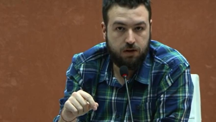 Juan Luis Sánchez, subdirector de eldiario.es, en un momento del Encuentro sobre activismo, prensa y libertad de información.