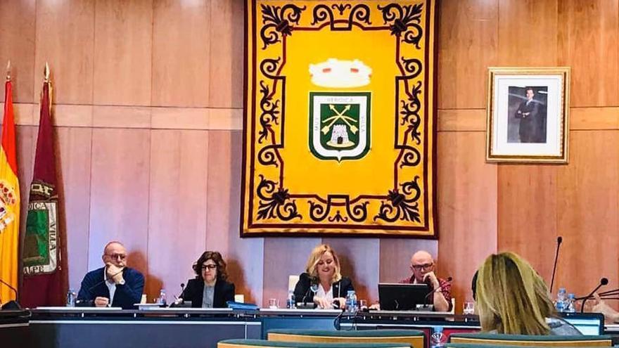 Ana Sala, presidiendo el pleno de Calp del pasado 8 de marzo.