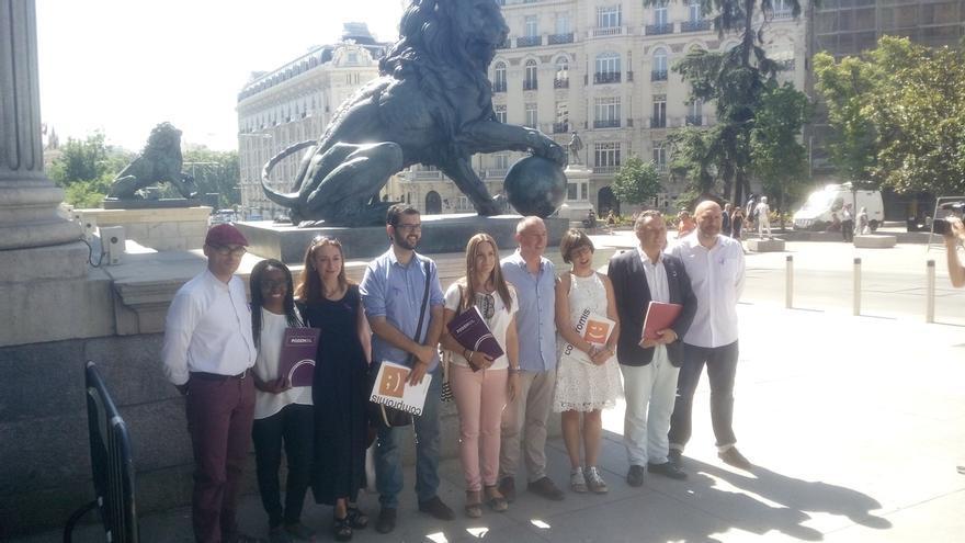 La confluencia valenciana Compromís-Podemos-EUPV registra hoy en el Congreso la petición de grupo propio