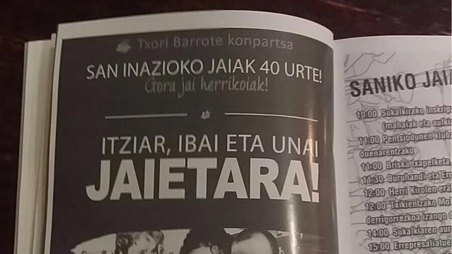 """PP de Bizkaia denuncia la """"propaganda radical y proetarra"""" en las fiestas del barrio de San Ignacio de Bilbao"""
