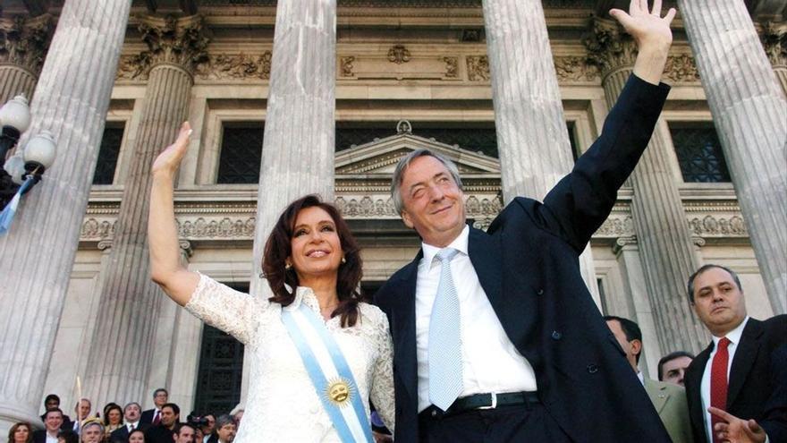 Cristina y Néstor Kirchner en 2007