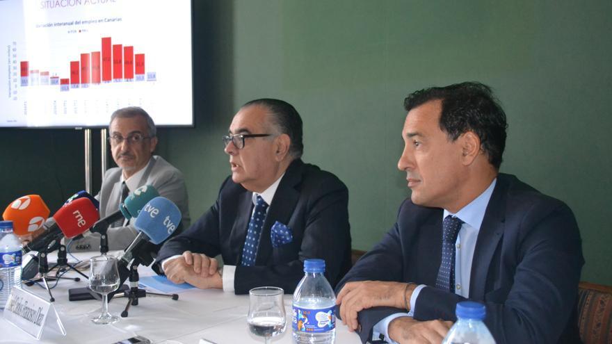 José Carlos Francisco, presidente de la patronal CEOE-Tenerife, este viernes en Santa Cruz de Tenerife