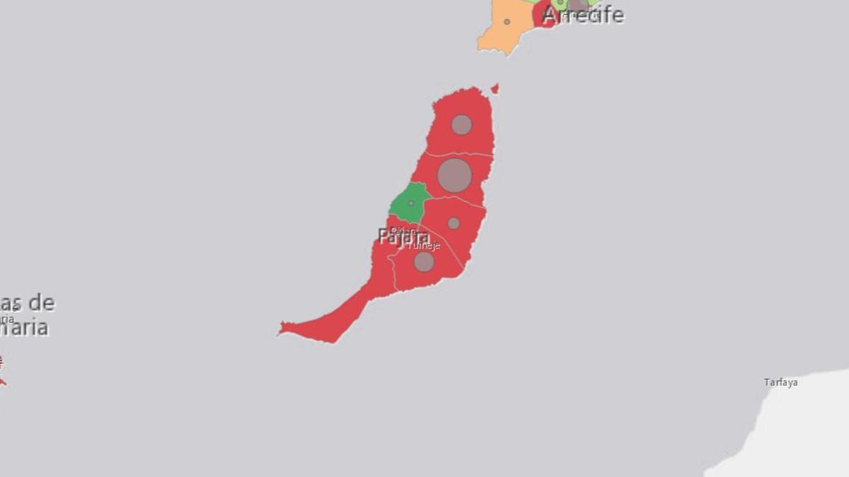Casos activos de coronavirus en Fuerteventura este miércoles, 17 de marzo