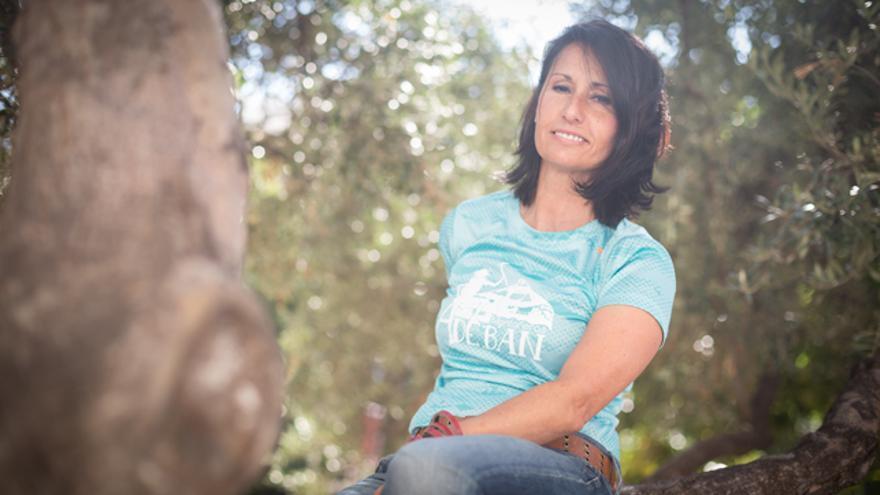 Blanca Izuel es vocal del Club Montañeras Adebán