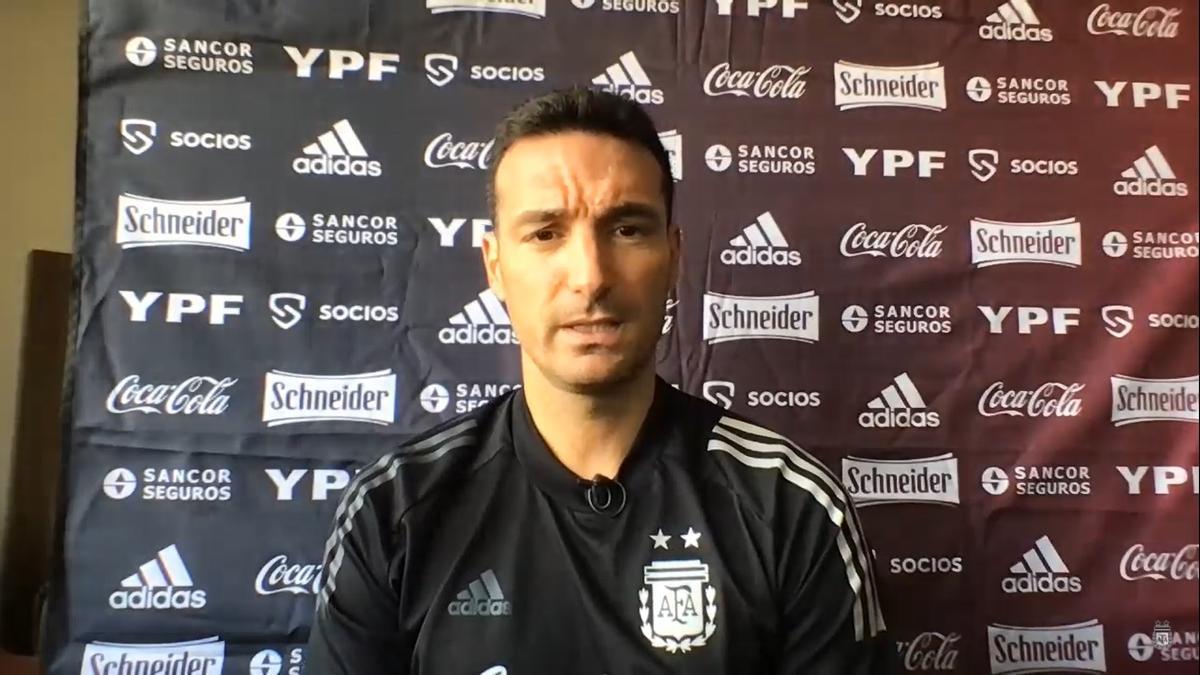 El DT de la Selección argentina, Lionel Scaloni
