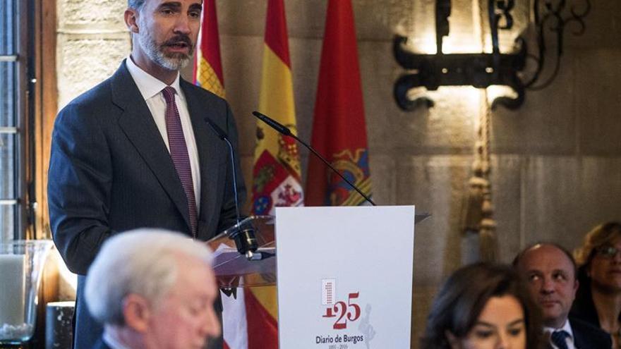 El Rey ensalza la labor de notario del Diario de Burgos en su 125 aniversario