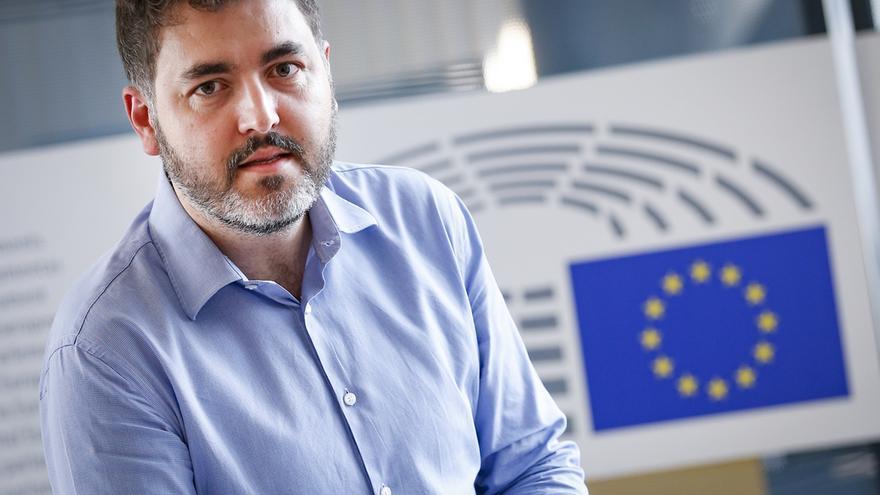 El eurodiputado del PSOE Jonás Fernández, en el Parlamento Europeo.