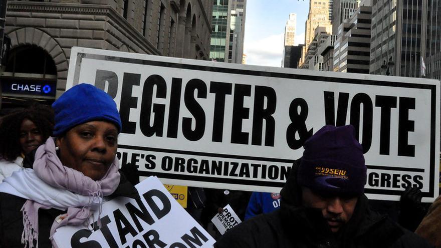 Manifestación de 2011 en Nueva York en defensa del derecho al voto