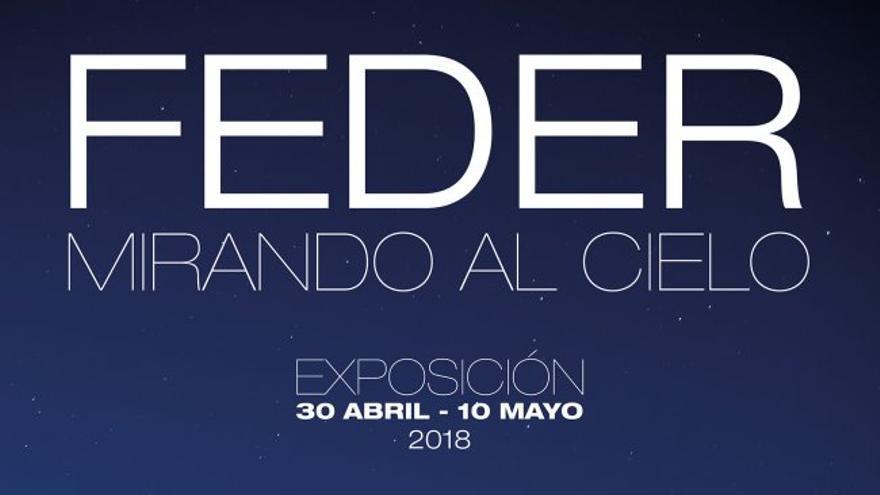 Cartel exposición 'Feder, mirando al cielo'. Crédito: Inés Bonet (IAC)