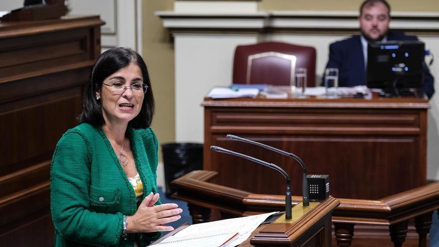 Carolina Darias, en el Parlamento de Canarias