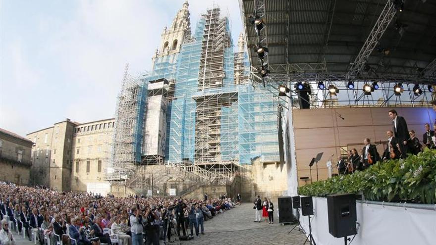Multitudinario concierto de Gustavo Dudamel en el Obradoiro