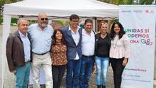 Francisco Déniz, a la izquireda, junto a Jordi Gallart, expulsado de la lista por Unidas Podemos y Sí Se Puede, en la presentación de la candidatura de Arona el viernes pasado