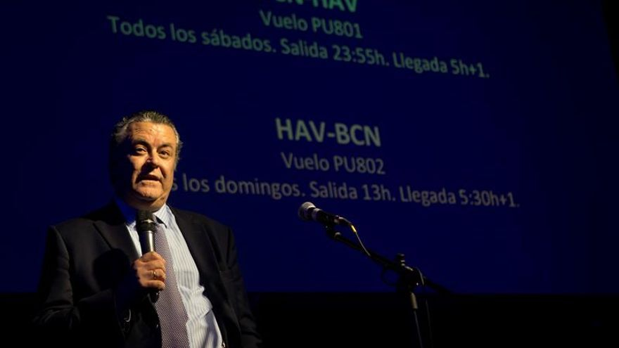 La aerolínea española Plus Ultra completa el primer vuelo de la ruta La Habana-Barcelona
