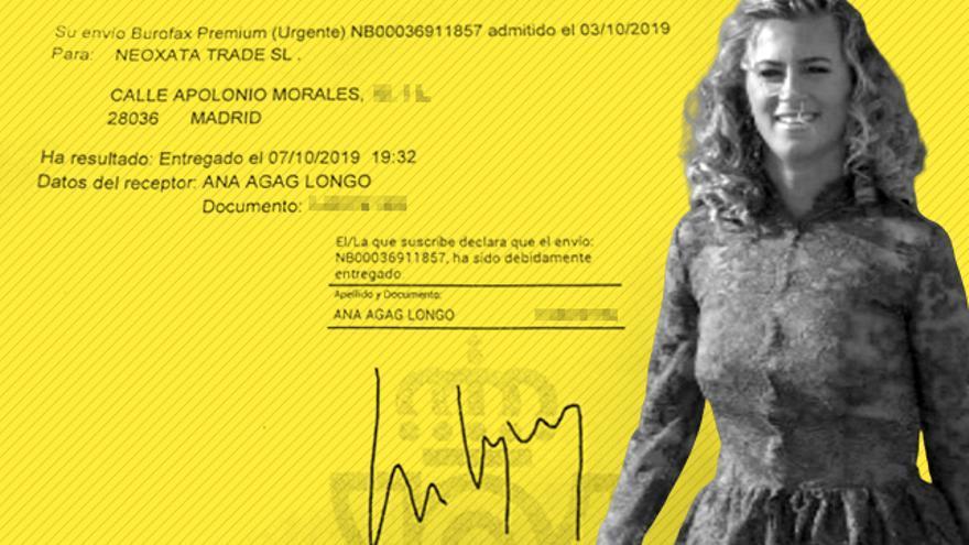 Un documento vincula a la hermana de Alejandro Agag, Ana Agag, con una polémica venta.