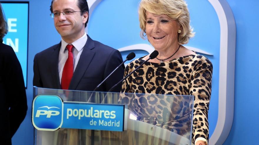 """Esperanza Aguirre achaca los resultados al """"inventario de escándalos"""" de este otoño"""
