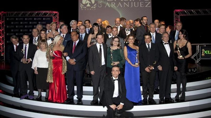 Anne Igartiburu y Marta Fernández recibieron sus Antenas de Oro 2012
