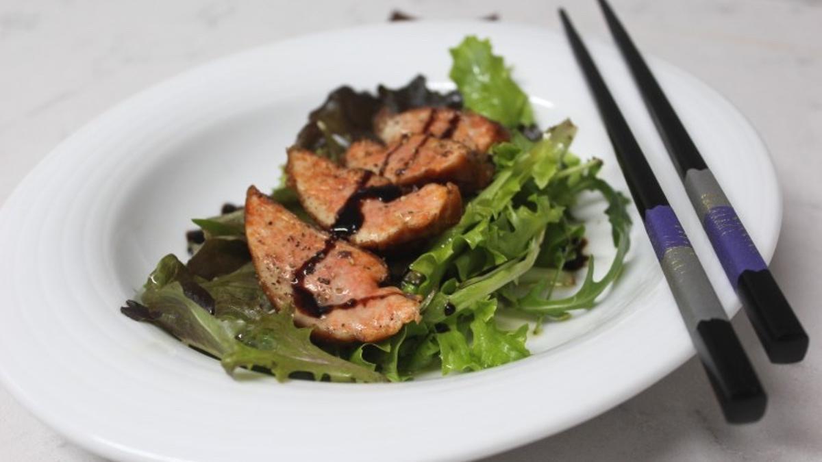 Hígado de rape en una receta del chef Xabier Gutierrez