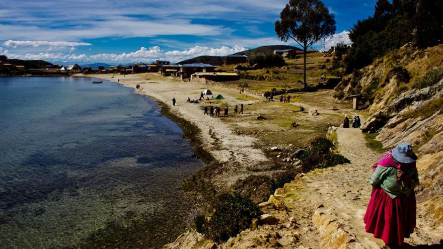Playas de Challapampa, en el sector norte de la Isla del Sol.