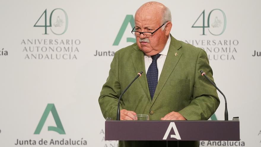 El consejero de Salud y Familias, Jesús Aguirre , en una imagen de archivo.