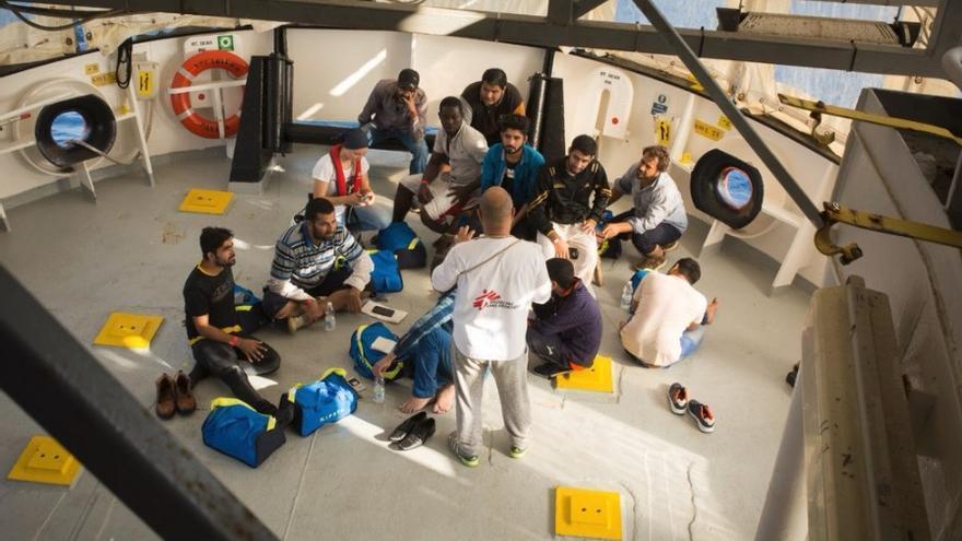 Los 11 rescatados por el Aquarius el 20 de septiembre.