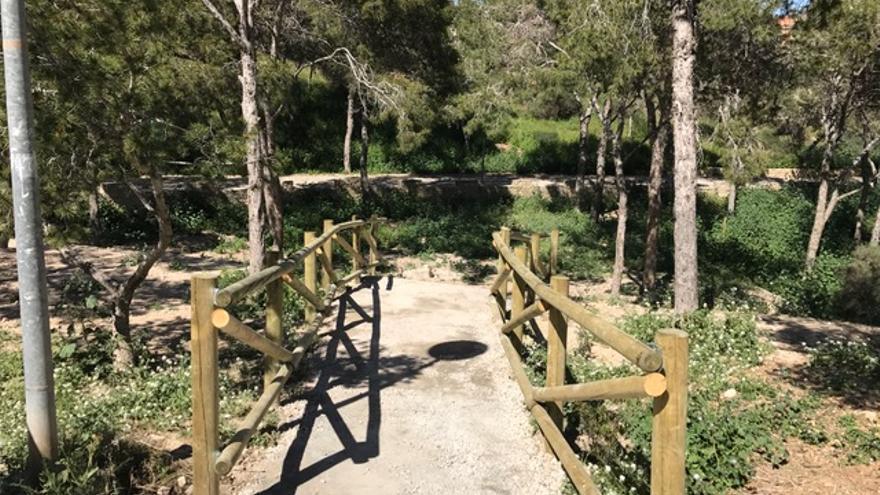 Una de las zonas restauradas en el Monte Benacantil