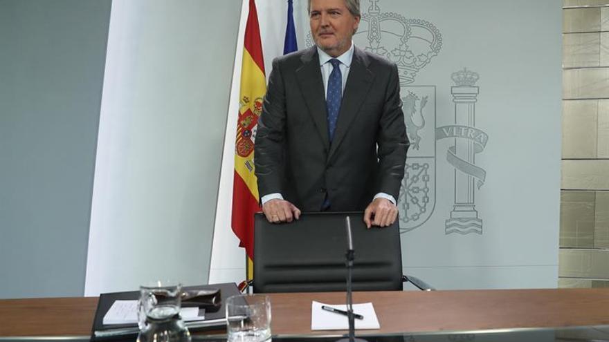 El ministro de Cultura, Íñigo Méndez de Vigo