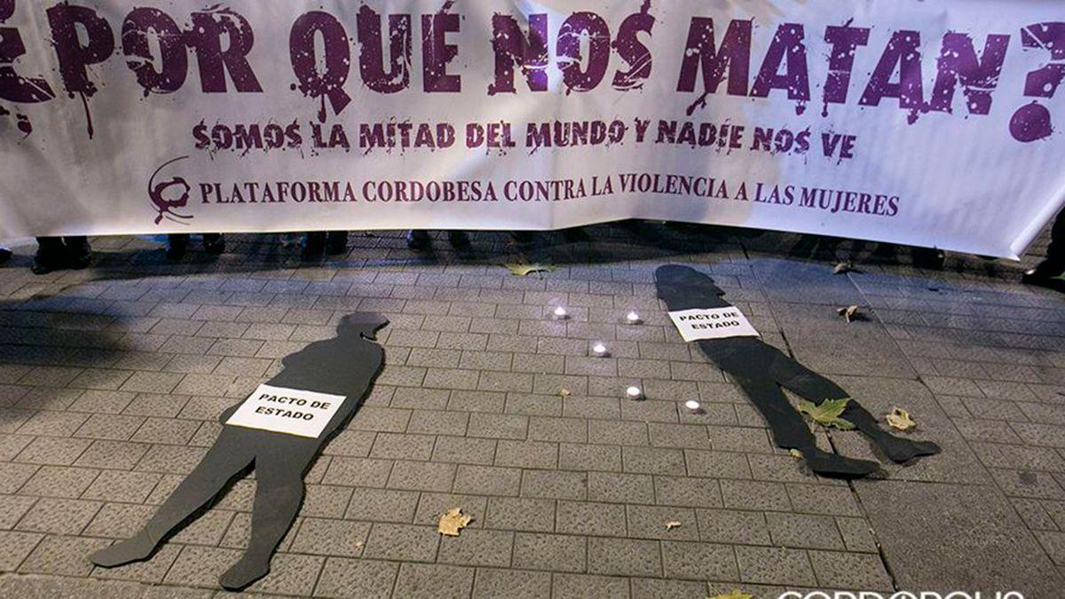 Pancarta de una manifestación contra la violencia de género en Córdoba.