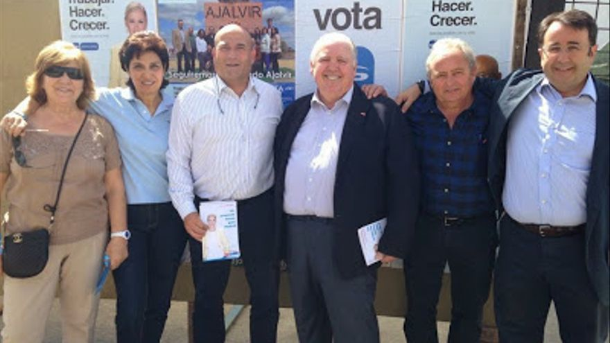 José Cabrera, diputado del PP en la Asamblea de Madrid dimitido por no querer entregar la declaración de bienes, de campaña en Ajalvir.