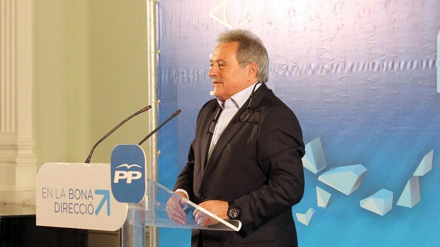 Alfonso Rus durante su intervención en el mitin