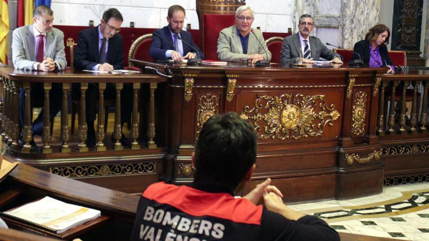 El alcalde de València, Joan Ribó, en la junta de Protección Civil